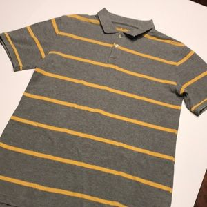 Cherokee collared gray yellow polo shirt size XL